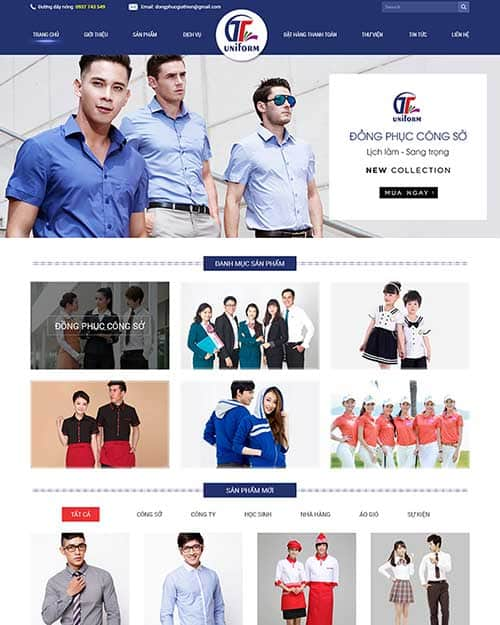 Kết quả hình ảnh cho thiết kế web bán đồng phục