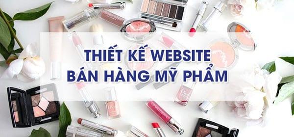 Thiết kế website bán hàng mỹ phẩm