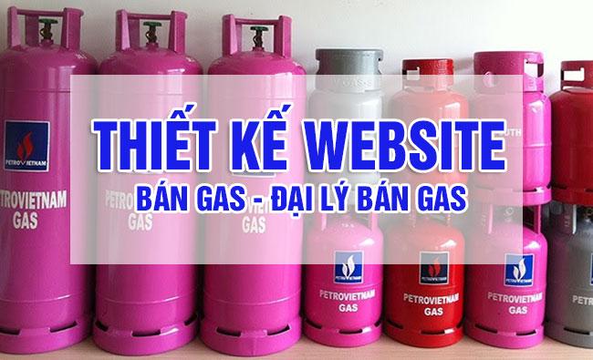 Thiết kế website đại lý bán gas