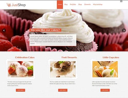 Mẫu thiết kế website bán bánh sinh nhật