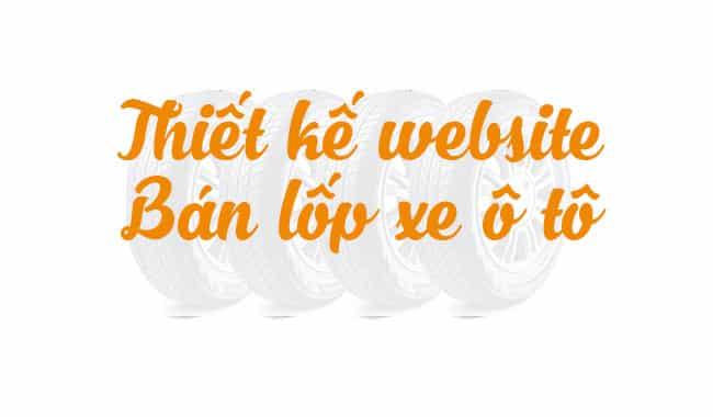 Thiết kế website bán lốp ô tô