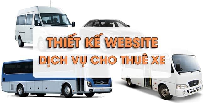 Thiết kế website dịch vụ cho thuê ô tô