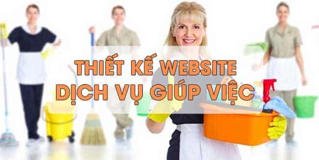 Thiết kế website dịch vụ giúp việc nhà