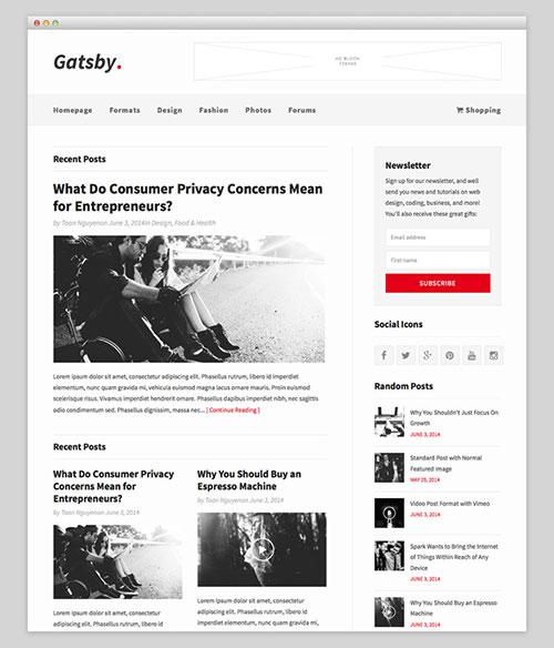 Gatsby Premium Theme