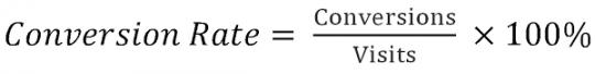 Công thức tính tỷ lê chuyển đổi